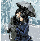 Рисунок на канве Гелиос А-025 «Зимняя прогулка» 43*47 см