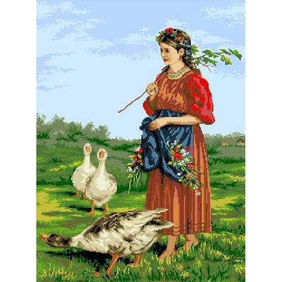 Рисунок на канве Гелиос А-027 «Селянка» 42*56 см в интернет-магазине Швейпрофи.рф
