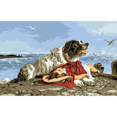 Рисунок на канве Гелиос А-028 «Спасатель» 42*60 см в интернет-магазине Швейпрофи.рф