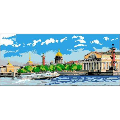 Рисунок на канве Гелиос Г-004  «Санкт-Петербург» 29*60 см в интернет-магазине Швейпрофи.рф