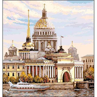 Рисунок на канве Гелиос Г-006  «Адмиралтейская  набережная» 43*46 см в интернет-магазине Швейпрофи.рф