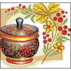 Рисунок на канве Гелиос Н-005 «Хохлома с рябиной» 30*31 см