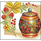 Рисунок на канве Гелиос Н-006 «Хохлома с клубничками» 30*30,5 см