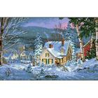 Рисунок на канве Гелиос П-080 «Зимний вечер в горах»