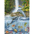 Рисунок на канве Гелиос Ф-001 «Дельфины»