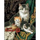 Рисунок на канве Гелиос Ф-002 «Кошки на черном фоне»