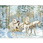 Рисунок на канве Гелиос Ф-007 «Тройка лошадей» 54*43 см