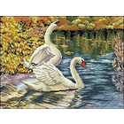 Рисунок на канве Гелиос Ф-010 «Лебеди» 40*30 см