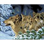 Рисунок на канве Гелиос Ф-016 «Волки» 43,5*53 см