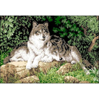 Рисунок на канве Гелиос Ф-018 «Волки» 34*47 см