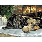 Рисунок на канве Гелиос Ф-019 «Собака и котята» 57*43,5 см