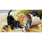 Рисунок на канве Гелиос Ф-020 «Щенки на берегу» 53*30,5 см