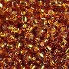 Бисер Preciosa Чехия (уп. 5 г) 17070 золотистый с серебр. центром
