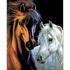 Рисунок на канве Гелиос Ф-032 «Конь и лошадь» 43*53 см