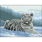 Рисунок на канве Гелиос Ф-048 «Белый тигр на снегу» 34*46 см