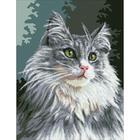 Рисунок на канве Гелиос Ф-052 «Серый кот» 41,5*57 см