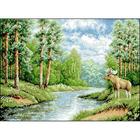 Рисунок на канве Гелиос Ф-058 «Лосиный остров» 36*46 см