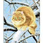 Рисунок на канве Гелиос Ф-062 «Рыжий кот» 43*50 см