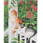 Рисунок на канве Гелиос Ф-063 «Кошки под яблоней» 37,5*47,5 см