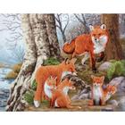 Рисунок на канве Гелиос Ф-082 «Семья лис» 43*50 см