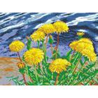Рисунок на канве Гелиос Ц-004 «Одуванчики» 30*41 см