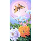Рисунок на канве Гелиос Ц-014 «Пионы и бабочки» 32*58 см