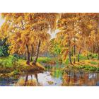Рисунок на канве Каролинка КК-009 Осень в отражении 22*30 см