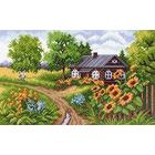 Рисунок на канве МП (28*37 см) 1407 «Домик на окраине»