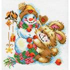 Рисунок на канве МП (28*37 см) 1779-1 «Весёлая зима»