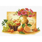 Рисунок на канве МП (37*49 см) 1230 «Оранжевый натюрморт»