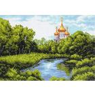 Рисунок на канве МП (37*49 см) 1354 «Тихая заводь»