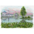 Рисунок на канве МП (37*49 см) 1624 «Волжские просторы»