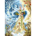 Рисунок на канве МП (37*49 см) 1703 «Волшебница Зима»