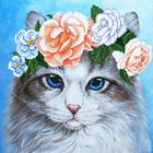 Рисунок на полотне (19*19 см) МА-014 «Голубоглазка»