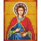 Рисунок на полотне 6*7 см М-005 «Св. Пантелеймон Целитель»