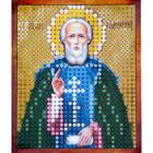 Рисунок на полотне 6*7 см М-006 «Св. Сергий Радонежский»