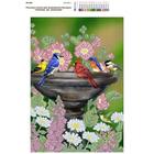 Рисунок на полотне А3 E-0303 «Птички на фонтане» 29*39 см
