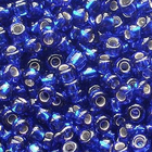Бисер Preciosa Чехия (уп. 5 г) 37100 синий с серебр. центром