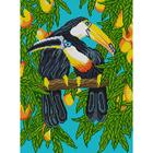 Рисунок на полотне А3 E-0375 «Туканы - прекрасные семьянины» 29*39 см