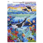 Рисунок на полотне А3 E-0382 «Живой океан» 29*39 см