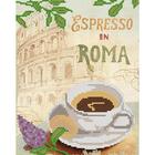 Ткань с рисунком для вышивания бисером А4 MA-010 La France Эспрессо в Риме 18*23 см