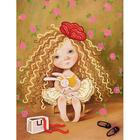 Рисунок на полотне А4 MA-039 Хочу шампанского, клубники, цветов и на ручки 18*24 см