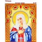 Рисунок на ткани «Наследие ИСА5-010 Св. Богородица Умиление» (со стразами и бусами) 17,5*21,5 см