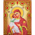 Рисунок на ткани «Наследие ИСА5-013 Св. БМ Владимирская» (со стразами и бусами) 17,5*21,5 см
