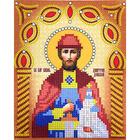 Рисунок на ткани «Наследие ИСА5-021 Св. Князь Дмитрий Донской» (со стразами и бусами) 17,5*21,5 см