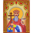 Рисунок на ткани «Наследие ИСА5-022 Св. Князь Владимир» (со стразами и бусами) 17,5*21,5 см
