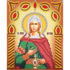 Рисунок на ткани «Наследие ИСА5-030 Св. Светлана (Фотина)» (со стразами и бусами) 17,5*21,5 см