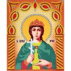 Рисунок на ткани «Наследие ИСА5-036 Св. Великомученица Ирина» (со стразами и бусами) 17,5*21,5 см