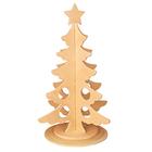 Сборная деревянная модель VGA.80006 «Новогодняя елка» 13*13*31 см