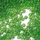 Бисер Preciosa Чехия (уп. 5 г) 56430 салатовый прозрачный перламутровый